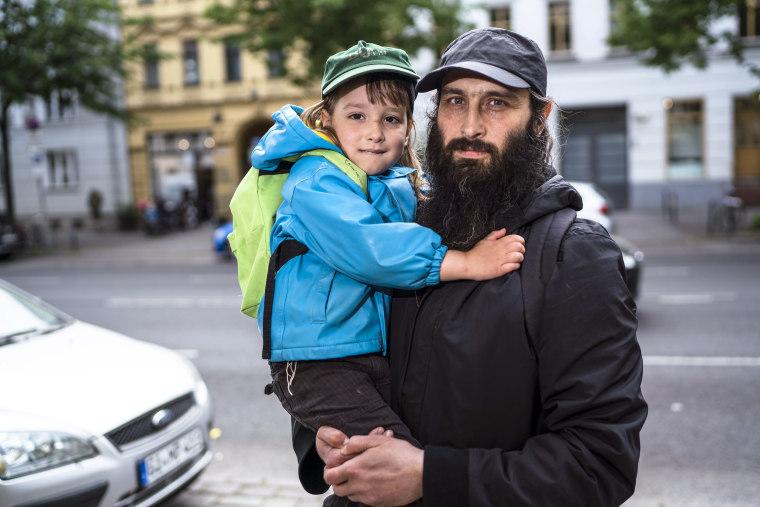 Image: Avraham Granov and his son Baruch