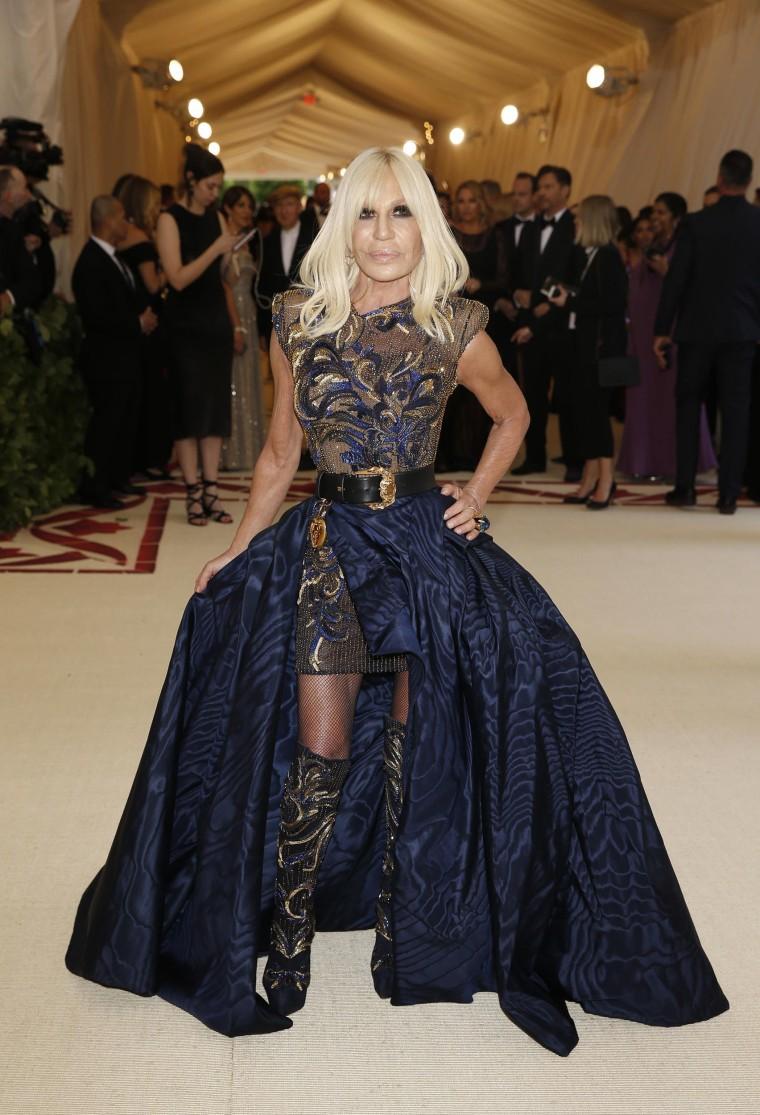 Image: Donatella Versace The Met Gala 2018