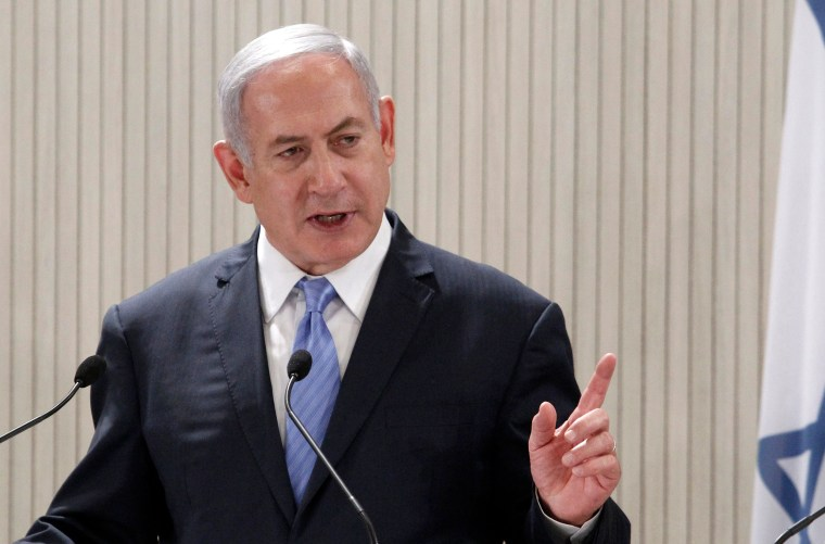 Image: Israeli Prime Minister Benjamin Netanyahu speaks during a press conference