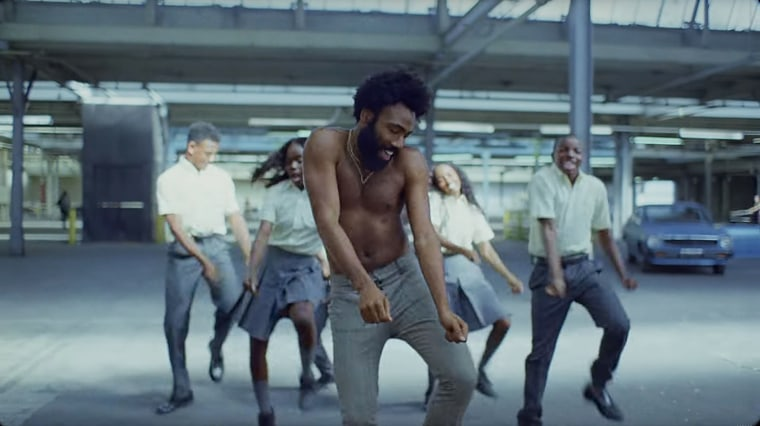 "Image: A scene from Childish Gambino's ""This is America\"" music video."