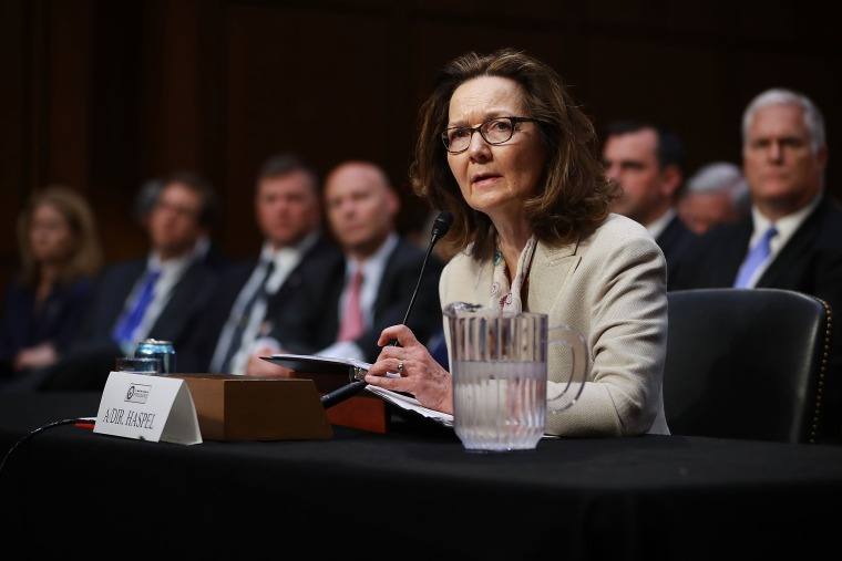 Image: Gina Haspel testifies before the Senate Intelligence Committee