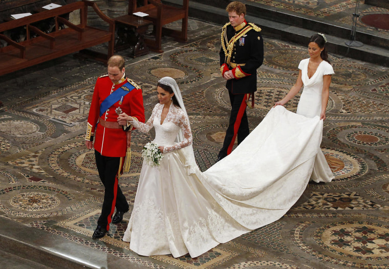 Image: To match Reuters Life! BRITAIN-MIDDLETON/DRESS