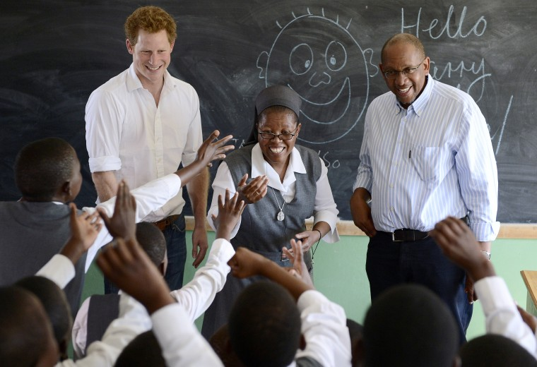 Image: LESOTHO-BRITAIN-ROYALS- HARRY