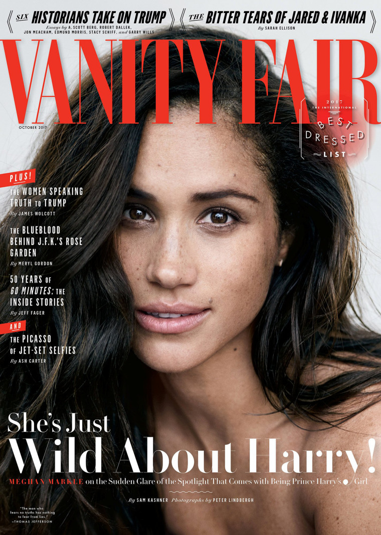 Image: Actress Meghan Markle poses for the October 2017 cover of Vanity Fair