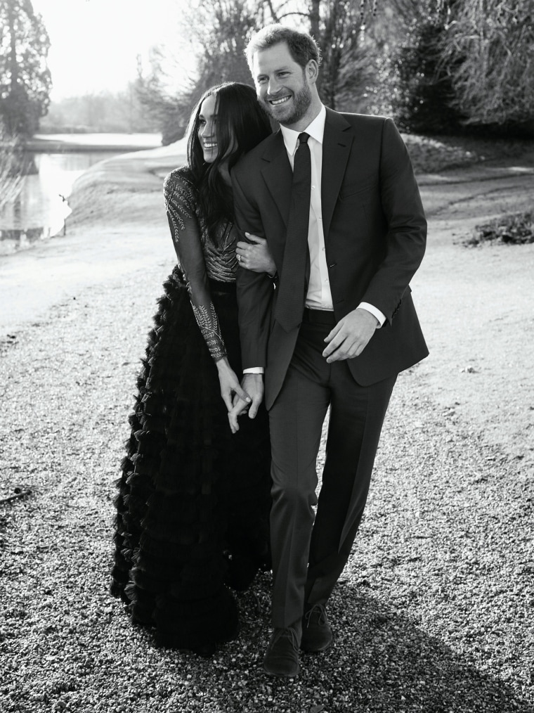 Image: FILE PHOTO: An official engagement photo released by Kensington Palace of Prince Harry and Meghan Markle taken by photographer Alexi Lubomirski, at Frogmore House in Windsor