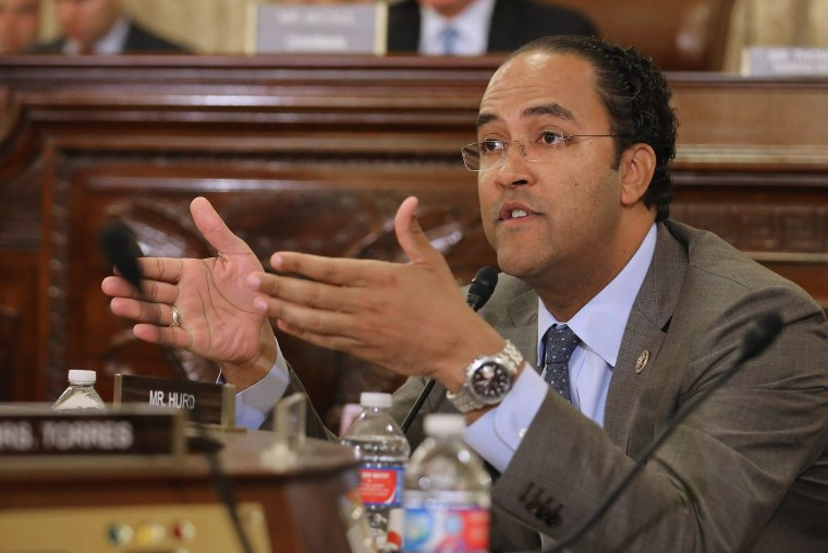 Image: Rep. Will Hurd, R-Texas, asks a question during a hearing on Capitol Hill in Washington