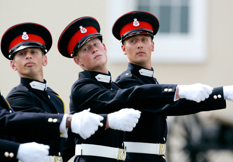 Prince Harry in Sandhurst Military Parade