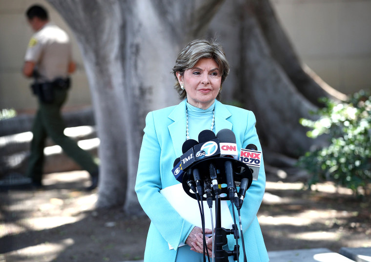 Image: Gloria Allred is representing the third accuser in a Manhattan case against Harvey Weinstein.