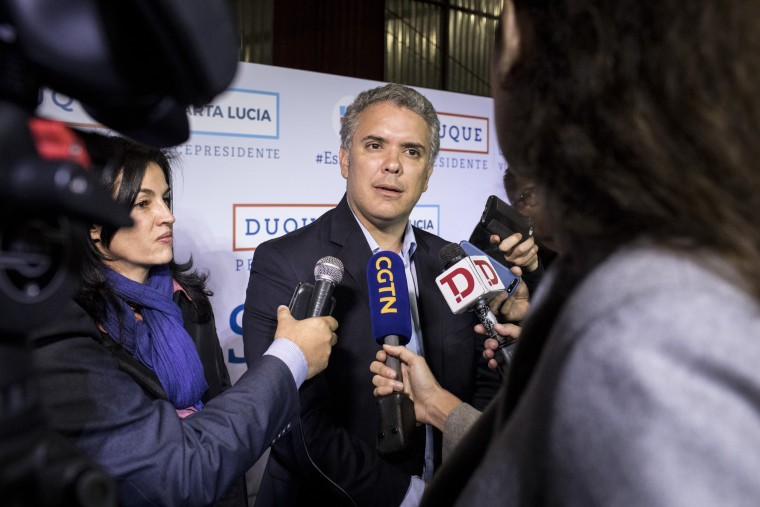 Image: Colombian presidential candidate Ivan Duque