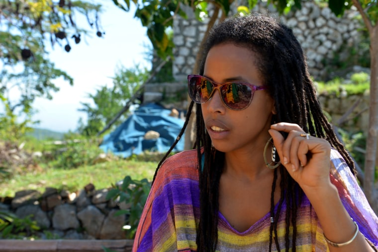 "Image: Donisha Prendergast, the eldest granddaughter of reggae icon Bob Marley, speaks during an interview on a hilltop known to Rastafarians as ""Pinnacle"" in Sligoville, Jamaica, Jan. 4, 2014."