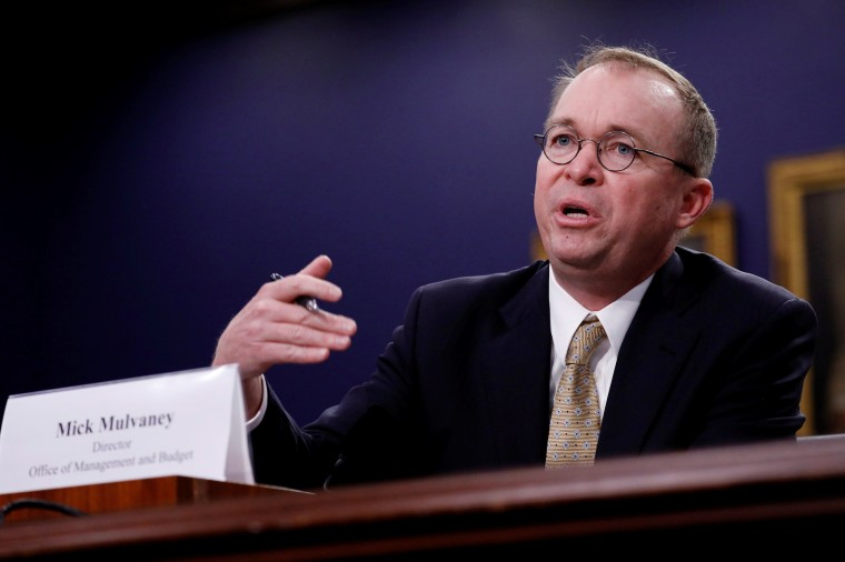 Image: Office of Management and Budget Director Mick Mulvaney testifies before the House Appropriations Subcommittee on Financial Services and General Government on Capitol Hill in Washington
