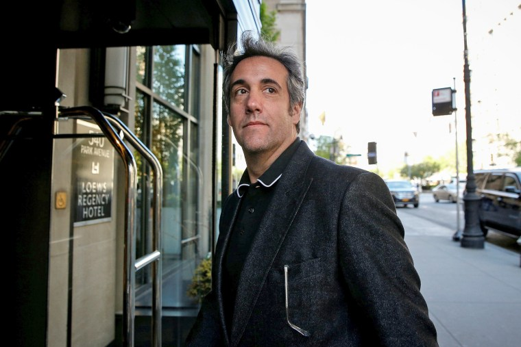 Image: U.S. President Donald Trump's personal lawyer Michael Cohen arrives at his hotel in New York