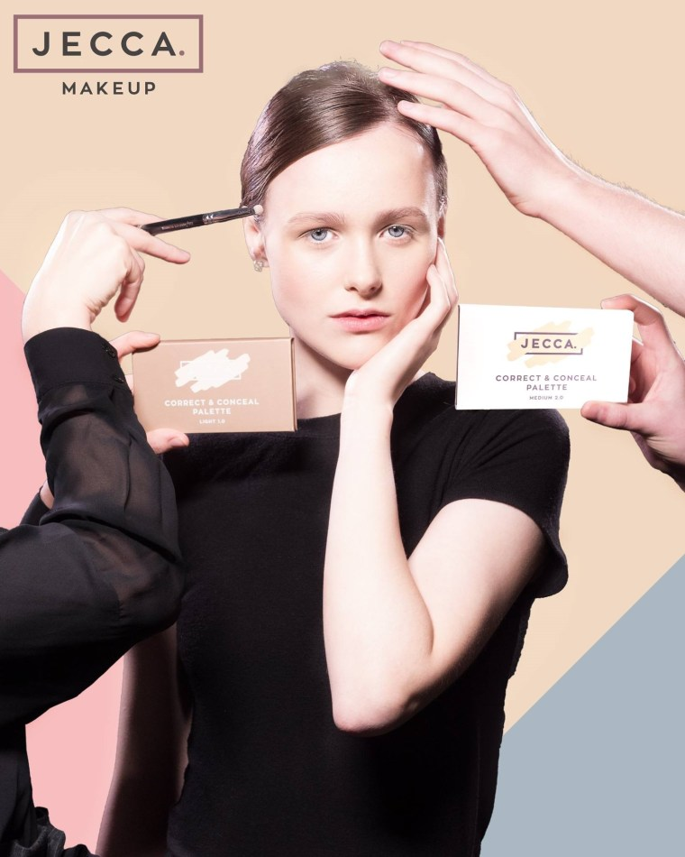 A 2017 campaign featuring JECCA's Correct and Conceal Palette.