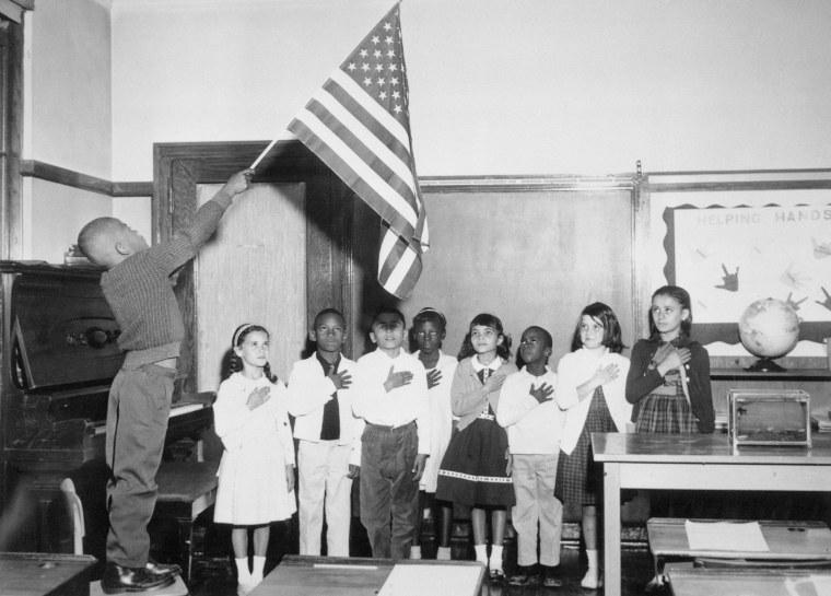 Image: Children Reciting Pledge of Allegiance