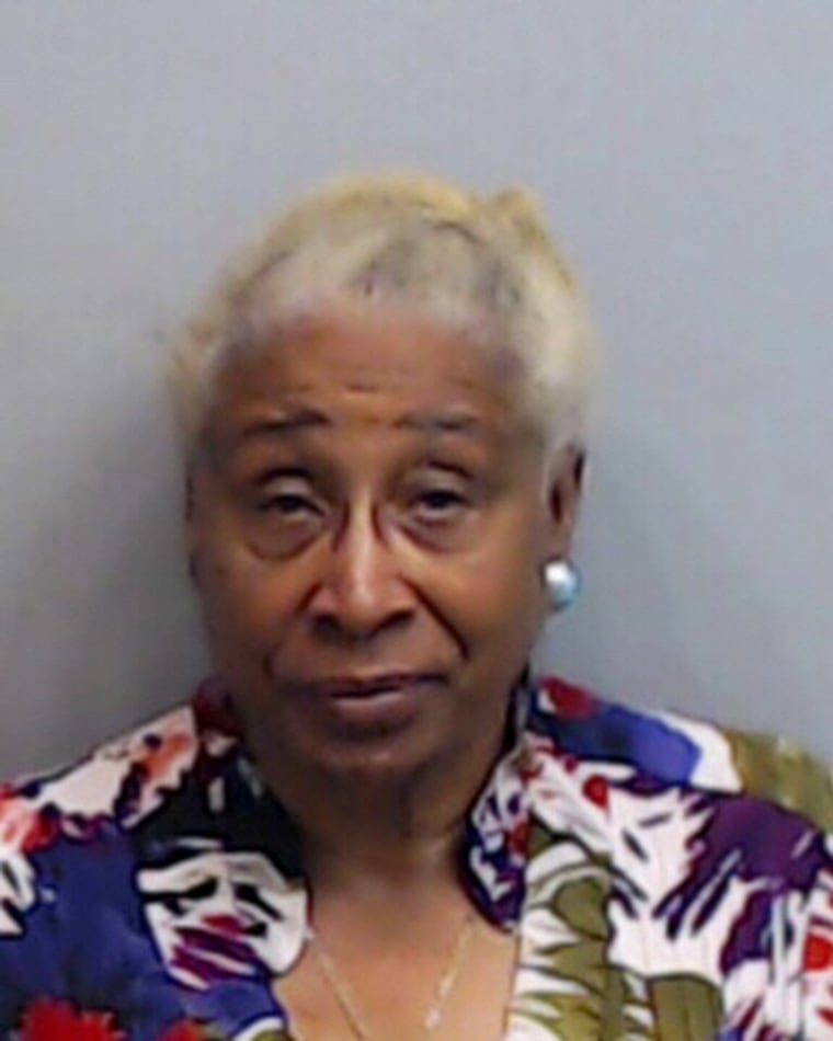 Image: A mug shot of Rose Campbell who was dragged out of her vehicle during a traffic stop after she refused to get out.