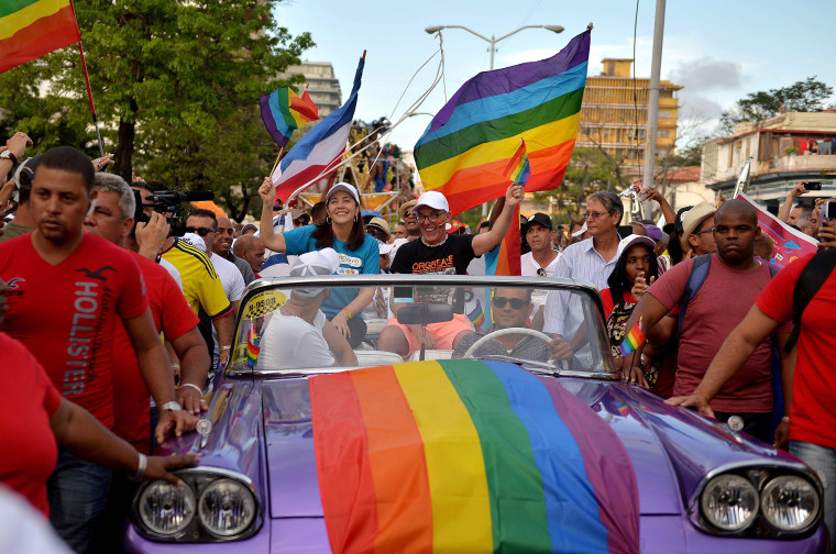 Image: Mariela Castro participates in the gay pride parade