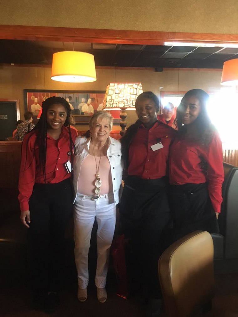 The staff at a Ruby Tuesday in Myrtle Beach, South Carolina made Barbara Foy's day (and life) feel a little brighter on Mother's Day.
