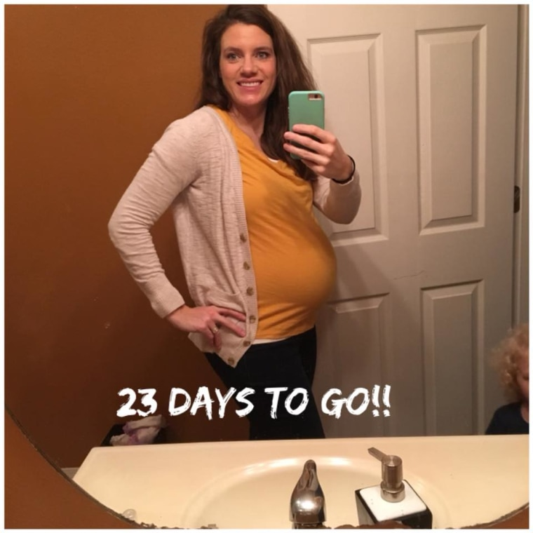 Alicia Balster, nine months pregnant