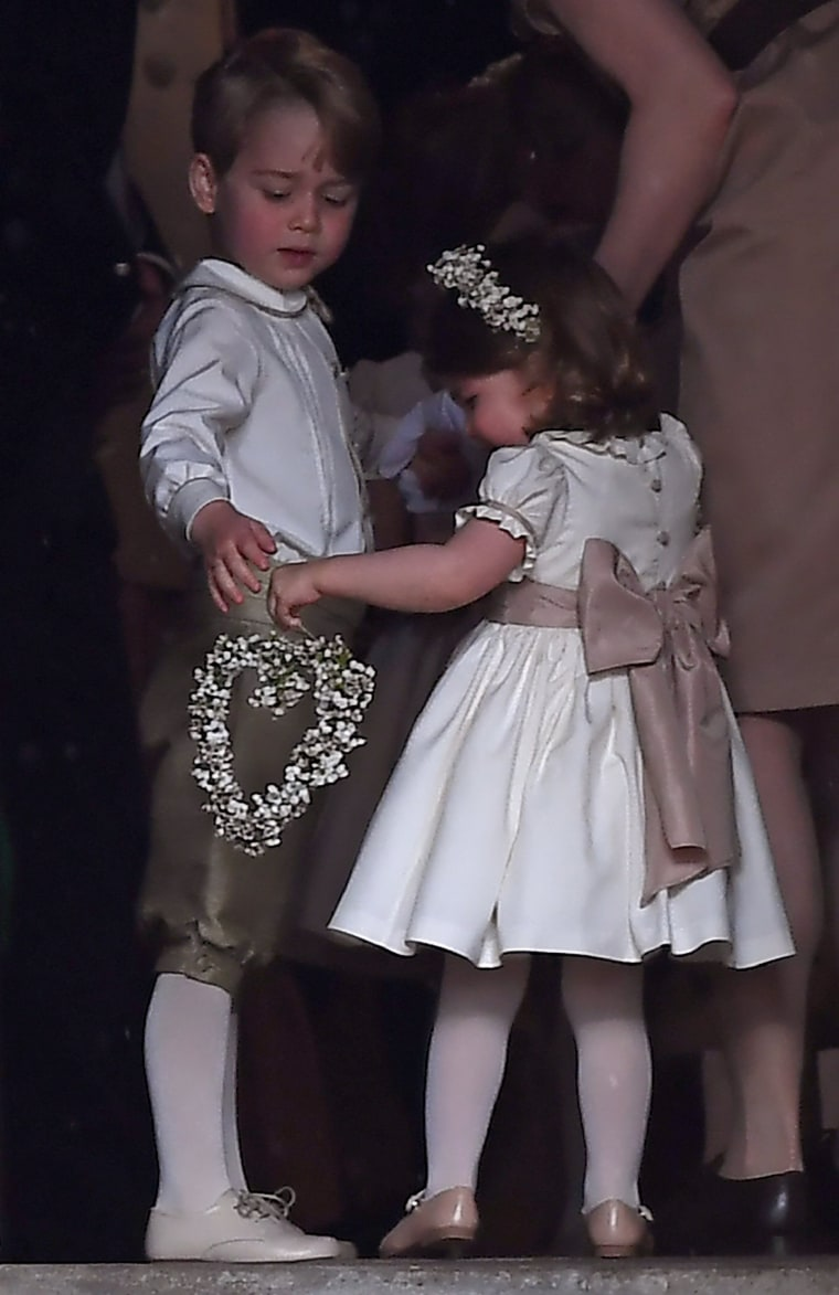 Prince George and Princess Charlotte at the Wedding Of Pippa Middleton And James Matthews