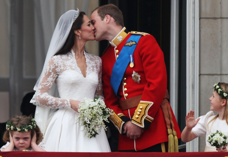 Kate, Duchess of Cambridge, and Prince William, at their wedding