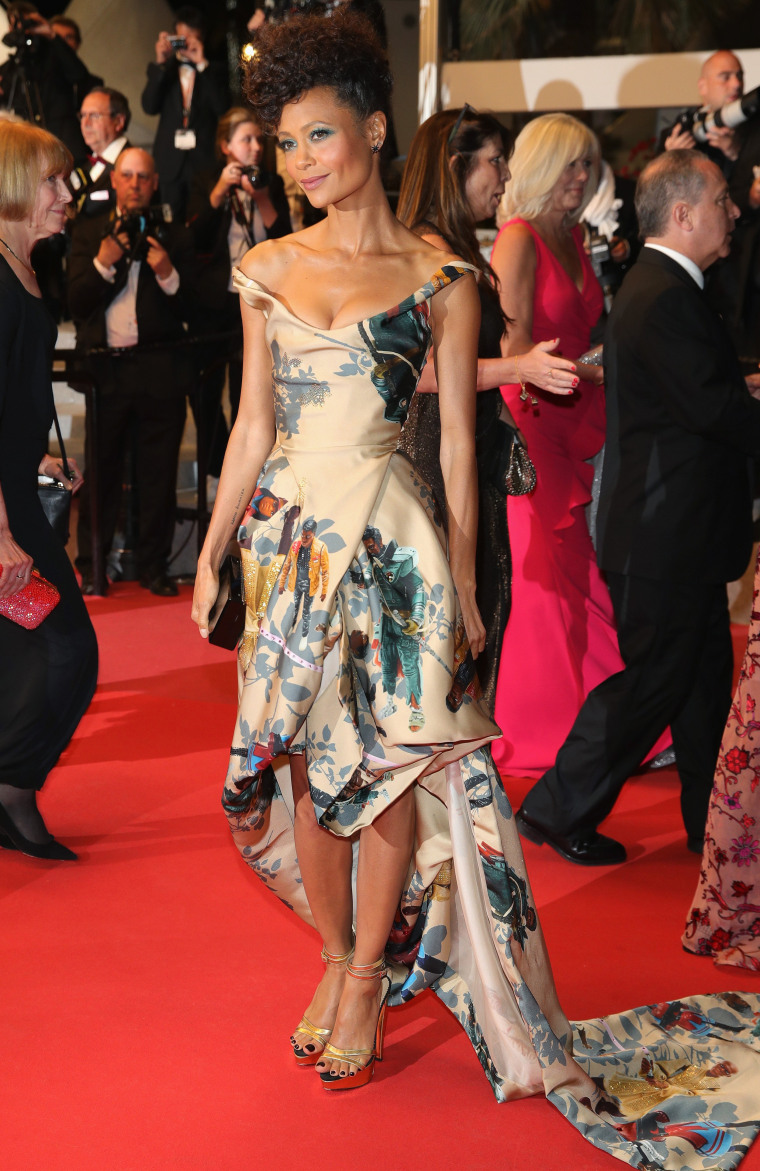 "Thandie Newton pays tribute to black ""Star Wars"" actors at Cannes Film Festival"