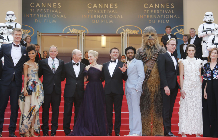 "Cast of ""Star Wars: A Solo Story"" at Cannes Film Festival"