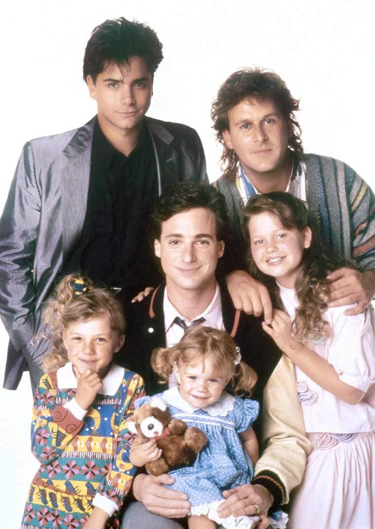 """Full House"" cast: John Stamos, Dave Coulier, Bob Saget, Candace Cameron, Jodie Sweetin, Ashley Olsen."