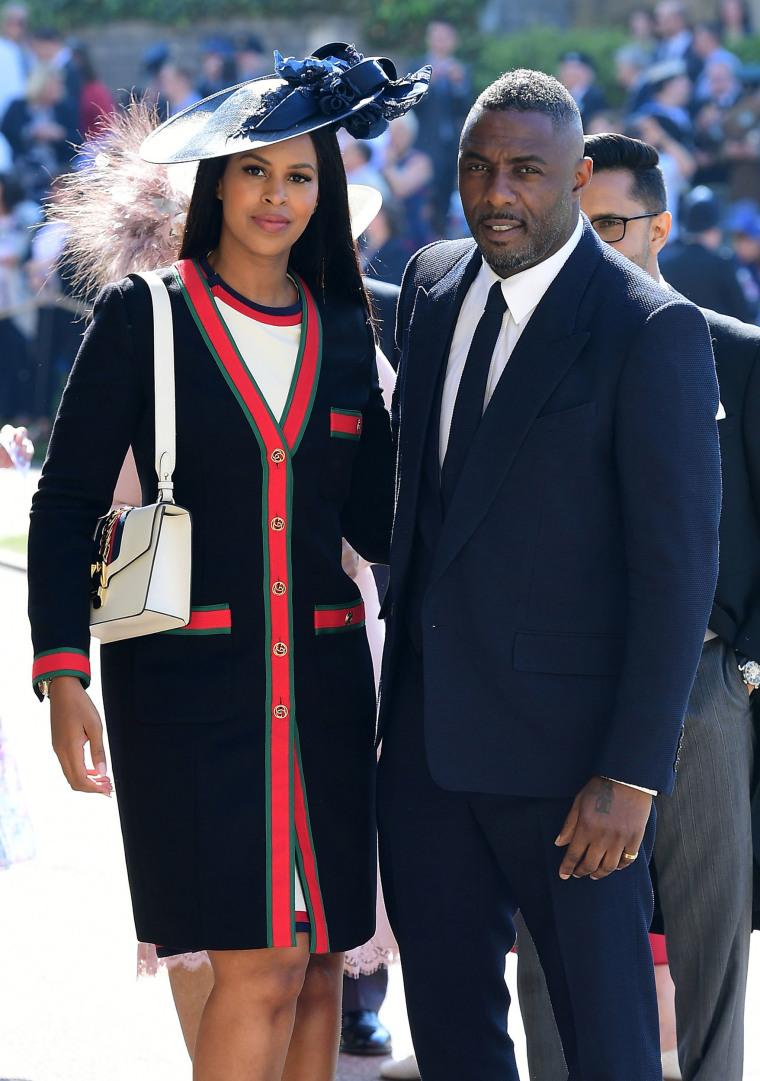 Idris Elba and Sabrina Dhowre at royal wedding