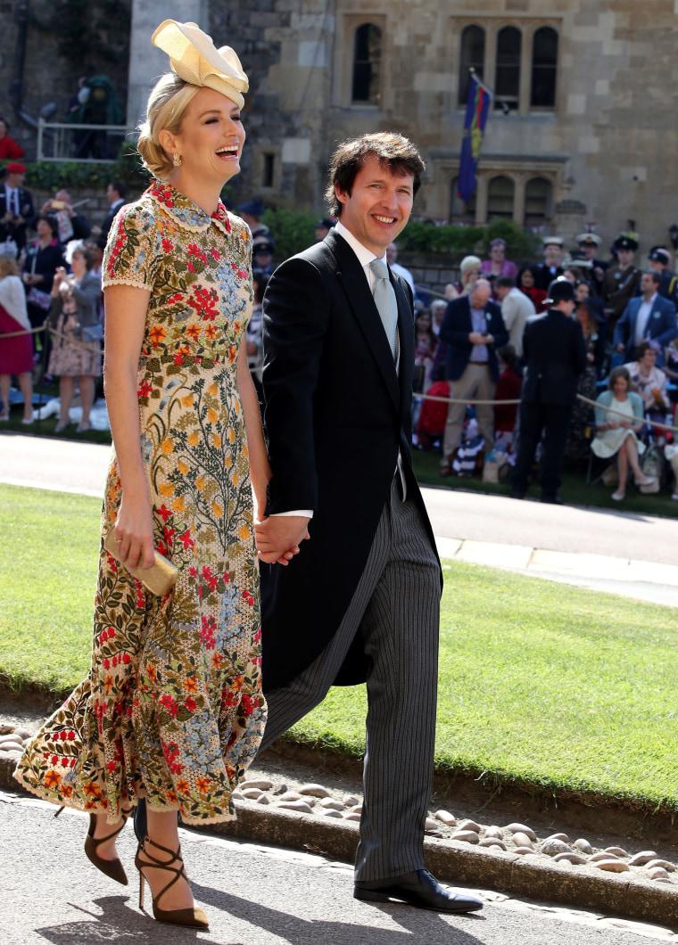 James Blunt, Sofia Wellesley at royal wedding