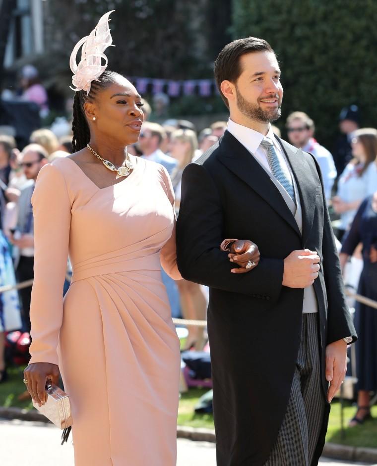 Serena Williams and Alexis Ohanian at royal wedding