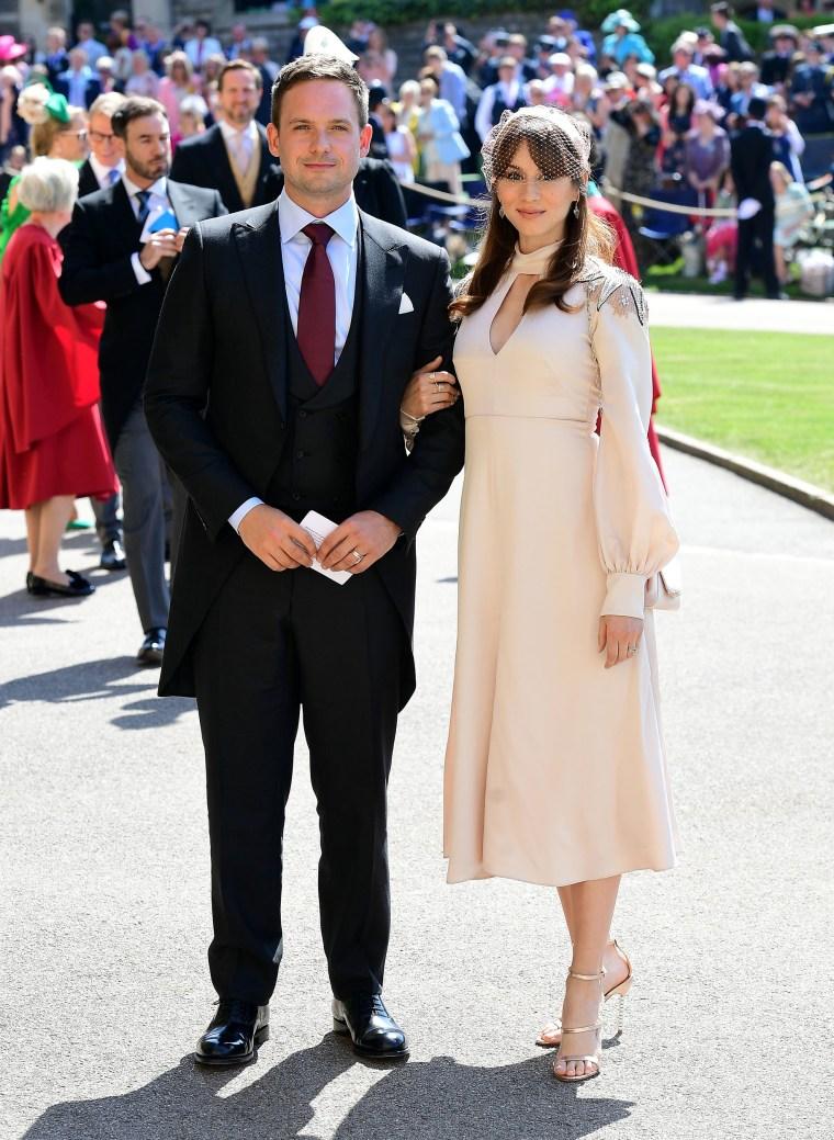 Patrick J. Adams at the royal wedding