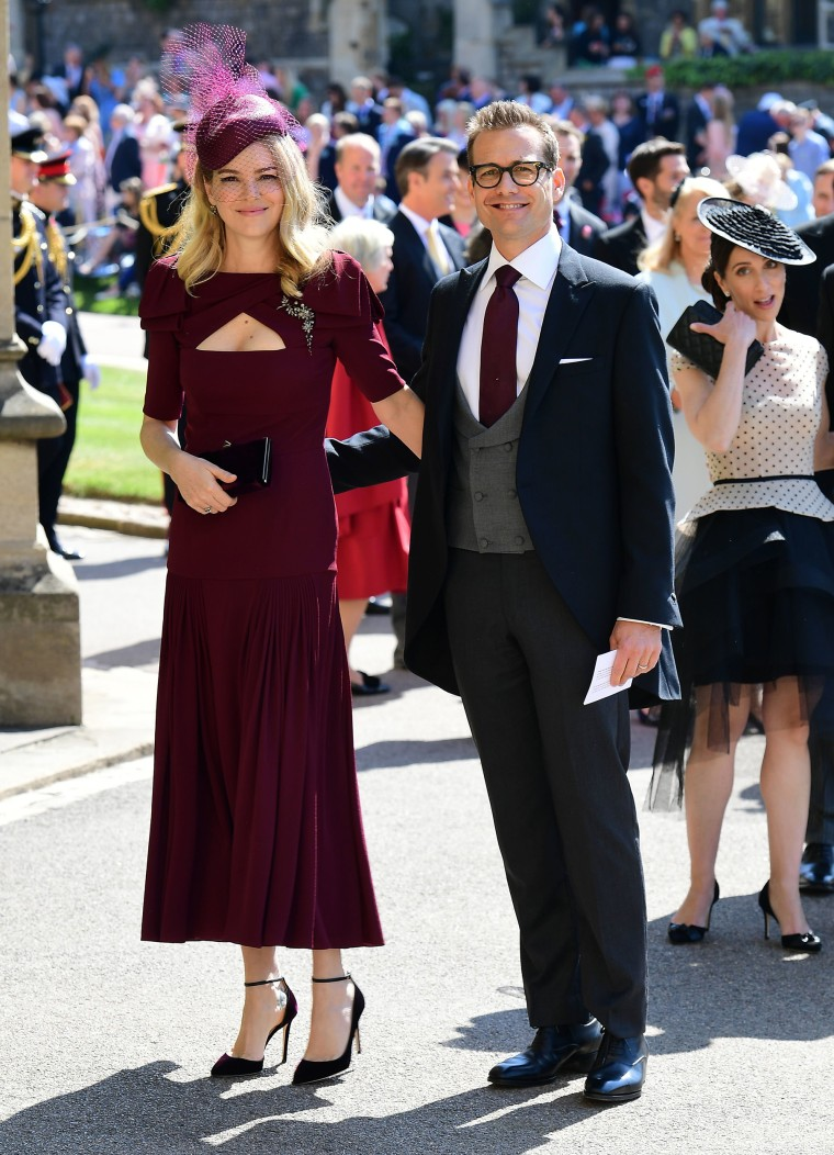 """Suits"" star Gabriel Macht and wife Jacinda Barrett at royal wedding"