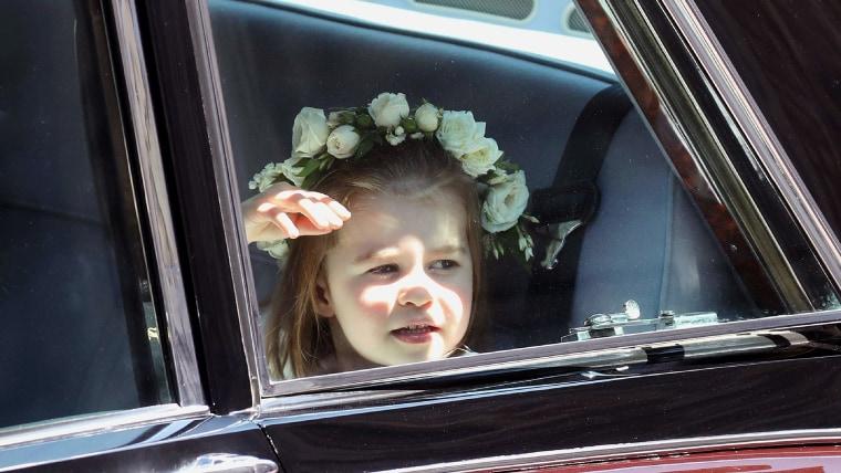 Princess Charlotte arrives at royal wedding