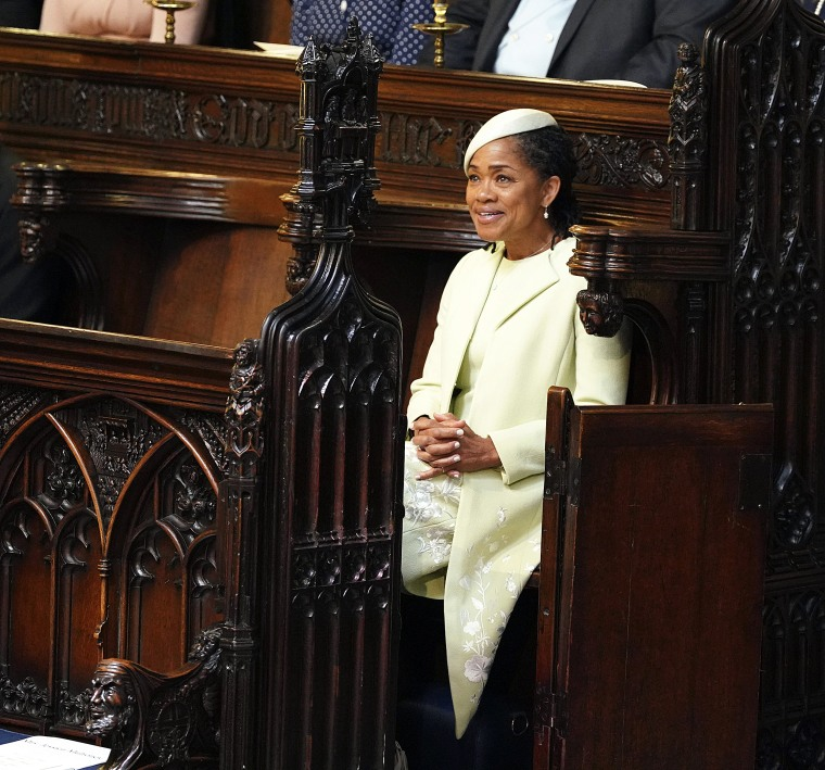 Meghan Markle's mother, Doria Ragland, at the royal wedding