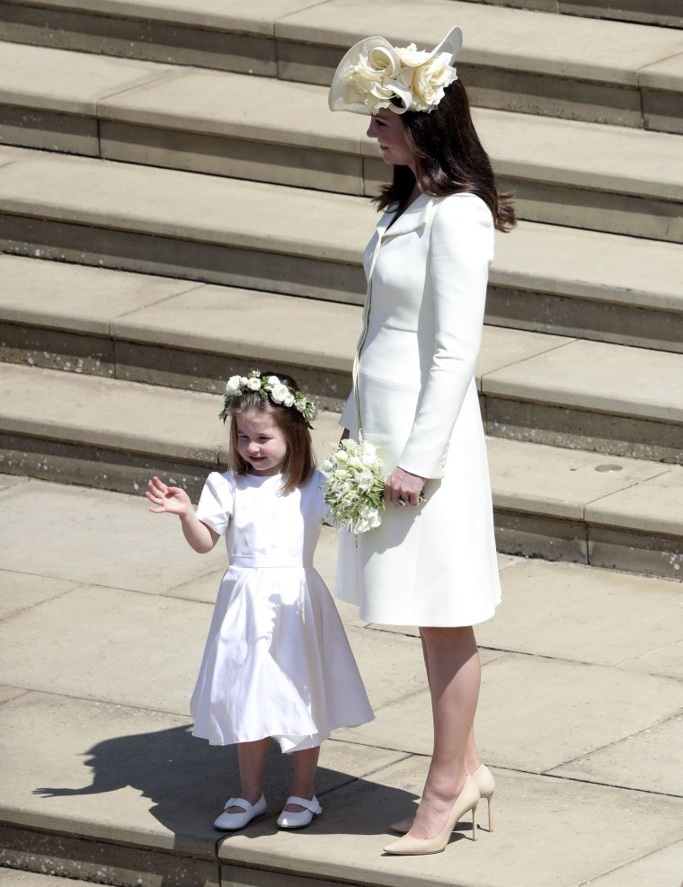Princess Charlotte with her mother, Duchess Kate.