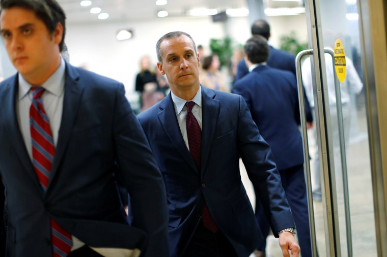 Image: Lewandowski arrives to meet with the House Intelligence Committee at the U.S. Capitol in Washington