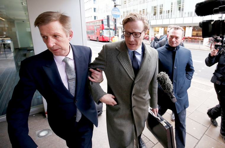 Image: Alexander Nix, CEO of Cambridge Analytica arrives at the offices of Cambridge Analytica in central London