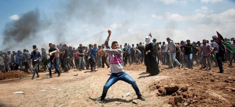 Image: Protest at Gaza-Israeli border