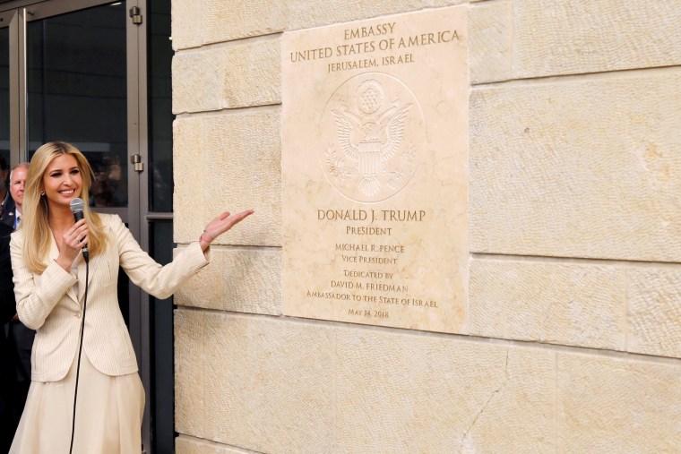 Ivanka Trump at the new U.S. embassy in Jerusalem.