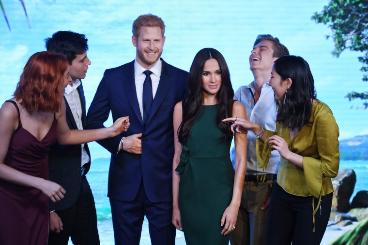 Image: Madame Tussauds unveils new waxwork of Meghan Markle in London