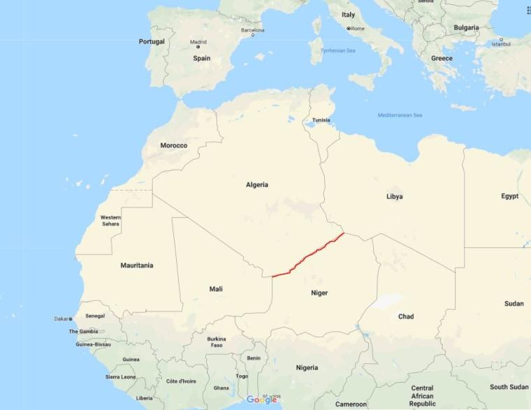 Image: The Algeria-Niger border