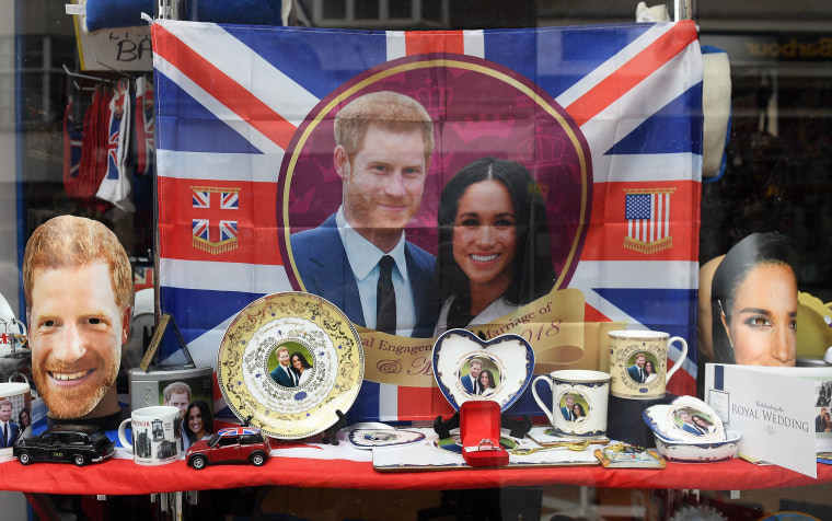 Image: Royal wedding merchandise on sale