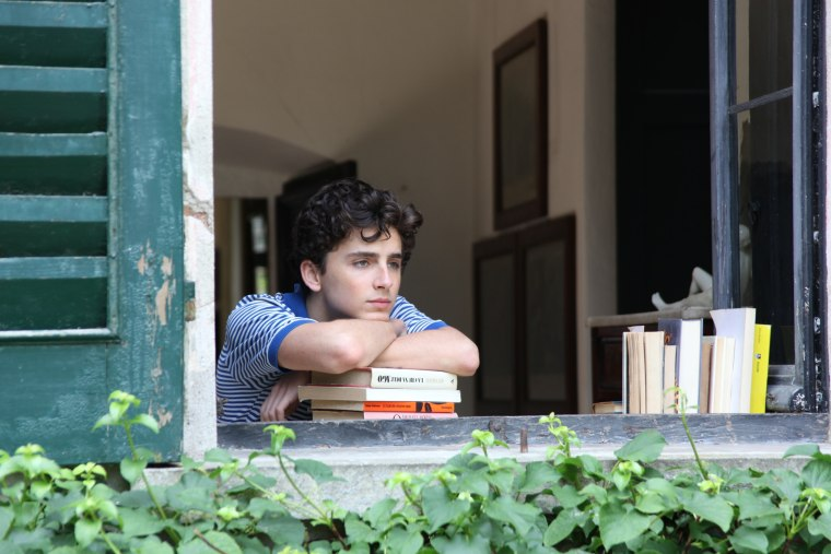 "Image: Timothee Chalamet in a scene from ""Call Me By Your Name"""