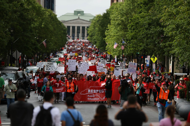 Image: North Carolina teachers walk out