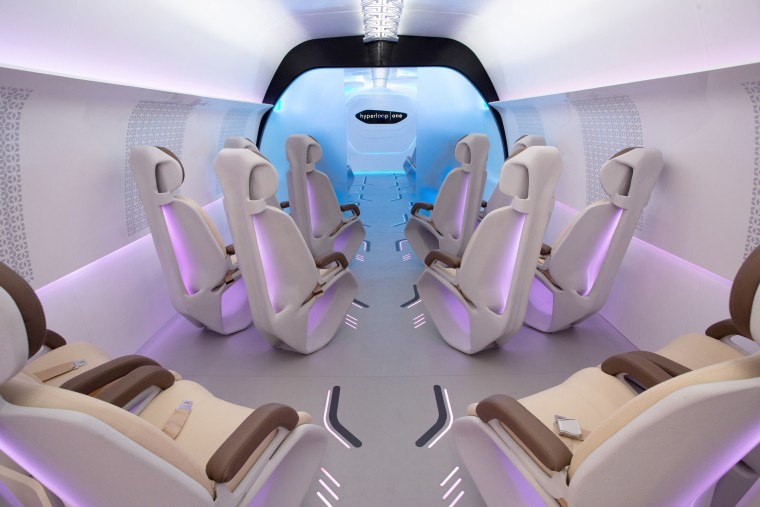 Image: Hyperloop One interior design