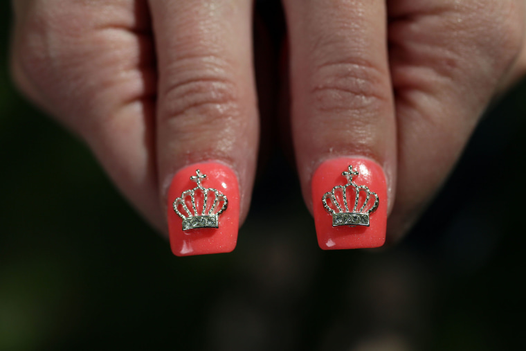 Image: Christine Deaver shows off her nails