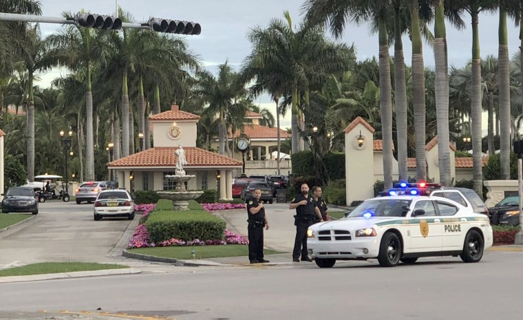 Image: Police respond to The Trump National Doral resort after reports of a shooting inside the resort, May 18, 2018 in Doral, Florida.
