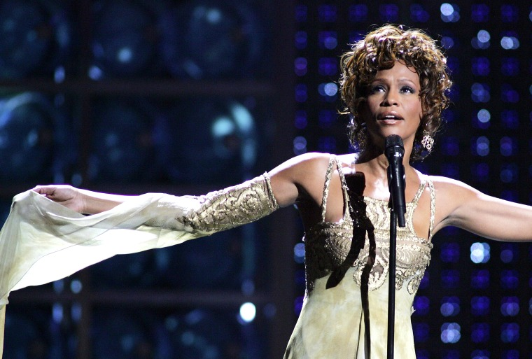 Whitney Houston at the World Music Awards in Las Vegas.