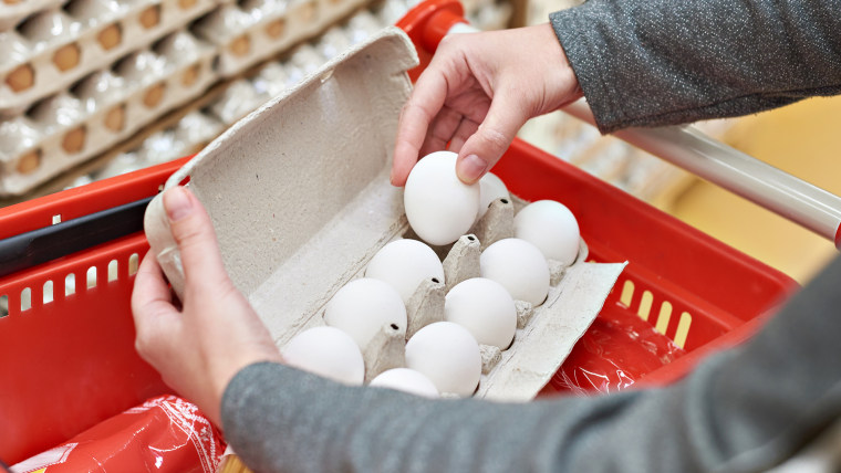 Eggs contain high-quality protein.