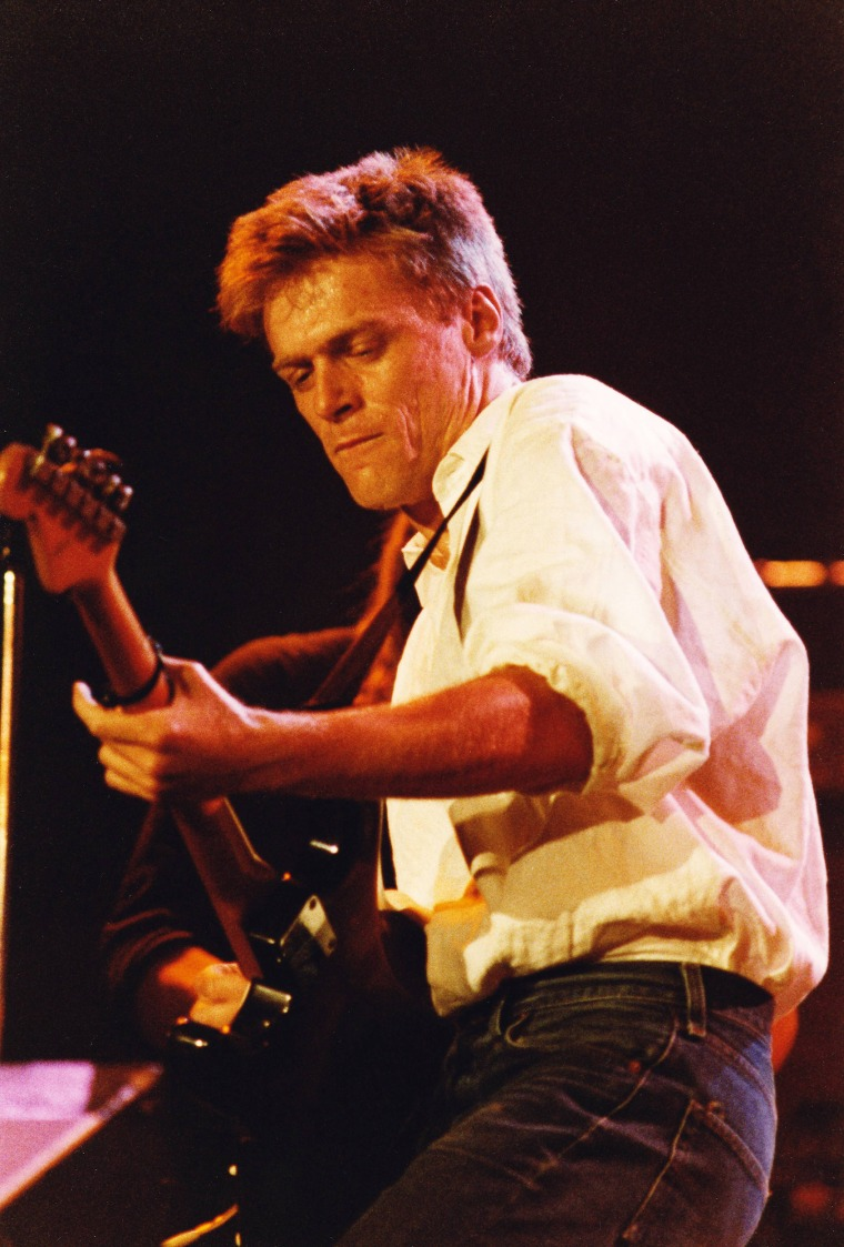 Bryan Adams Performs At The Princes Trust Concert At Wembley Arena In 1987